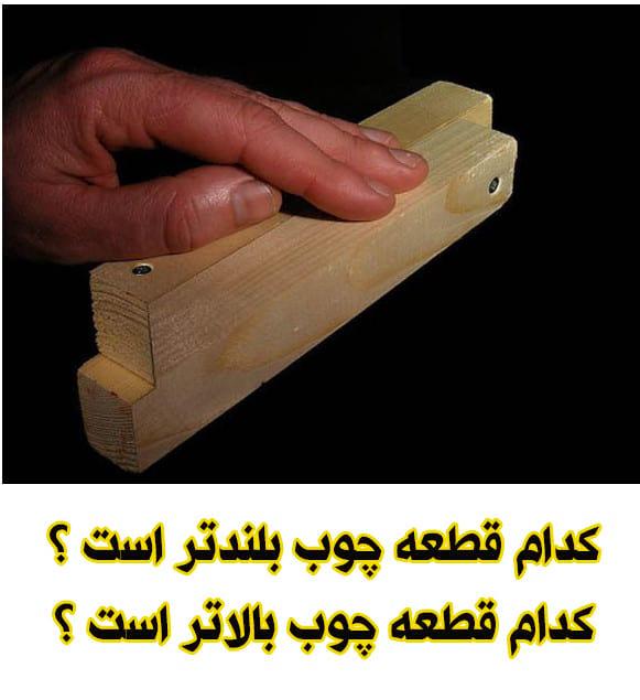 کدام قطعه چوب؟!