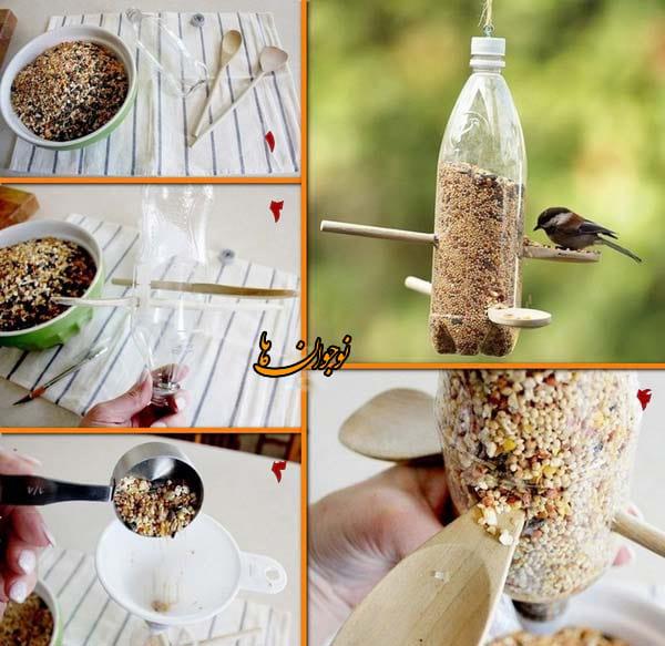 ظرف غذای پرندگان
