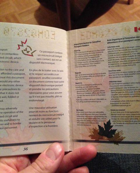 طراحی هوشمندانه در پاسپورت های کانادا