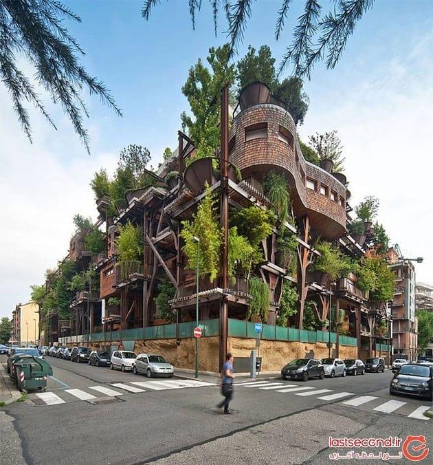 خانه ای ساخته شده از 150 درخت