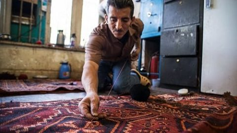 هنر رفوگری فرش