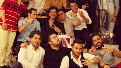 جشن تولد شلوغ فرزاد فرزین