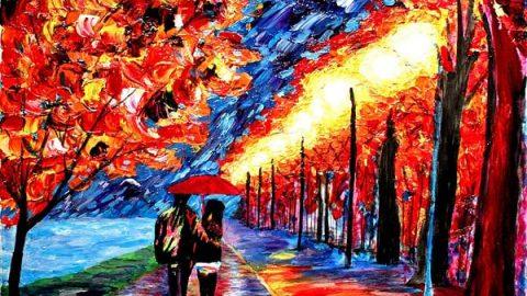 نقاش نابینا و تابلوهای رنگارنگ