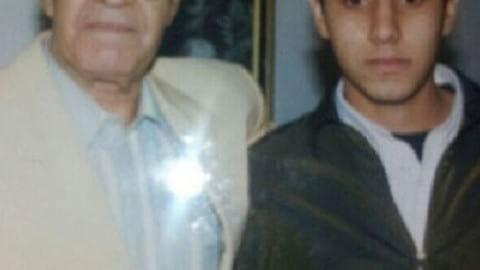 نوجوانی احسان خواجه امیری در کنار پدر + عکس