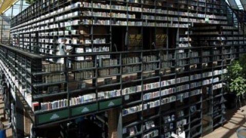 طراحی سازه عظیم کتابخانه کوه کتاب