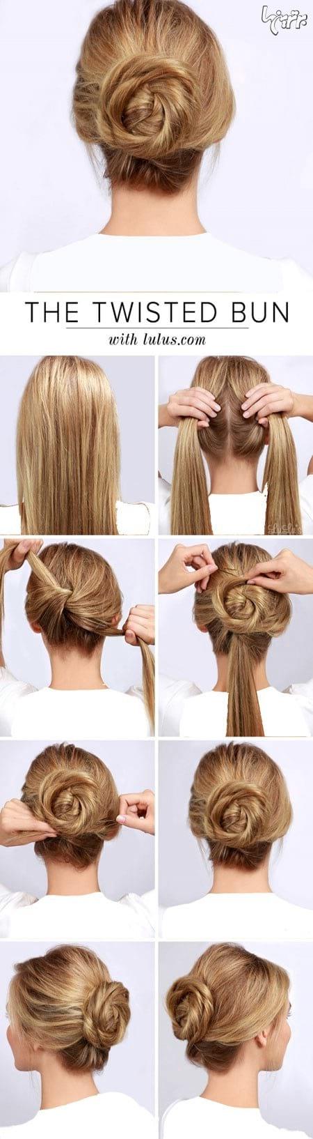 آموزش بستن مو (4)