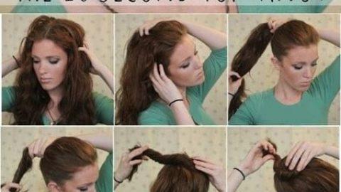 آموزش مدل های بستن مو برای خانم های تنبل (۲)
