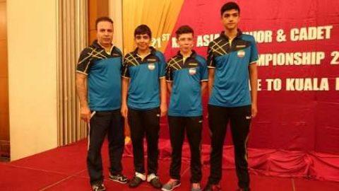 تیم تنیس روی میز نوجوانان ایران پنجم آسیا شد
