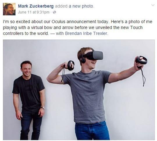 رونمایی زاکربرگ از دستگاه واقعیت مجازی