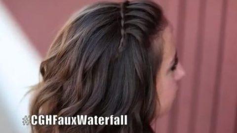 آموزش بافت موی آبشار هدبندی (ویدئو)