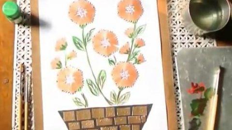 کاردستی با تراشه های مداد (ویدئو)