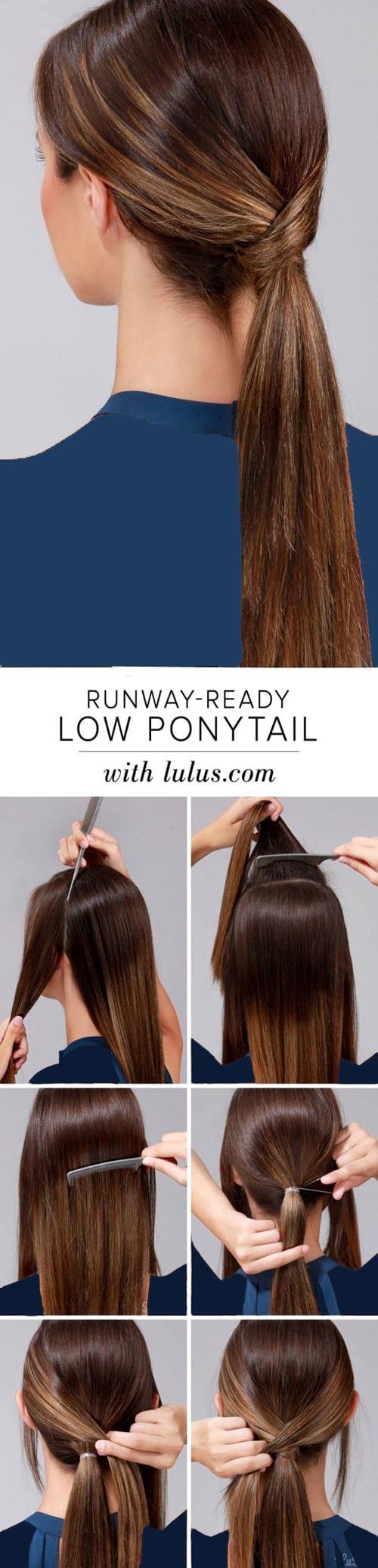 آموزش مدل های بستن مو برای خانم های تنبل (7)