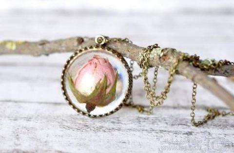 جواهراتی از گل های واقعی