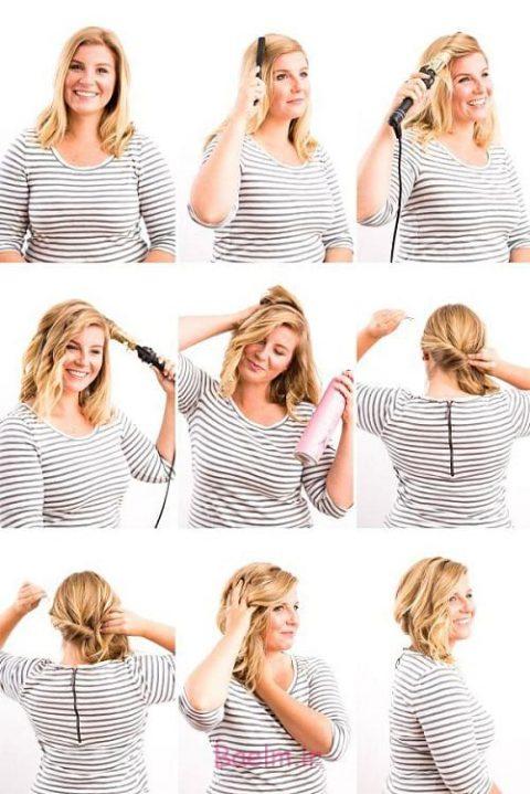 آموزش مدل های بستن مو برای خانم های تنبل (۶)