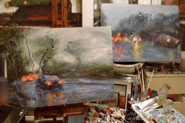نقاشی یک روز بارانی (7)