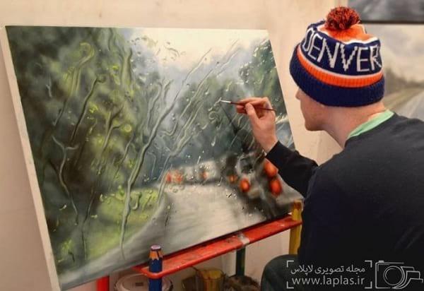 نقاشی یک روز بارانی (8)