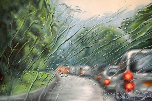 نقاشی یک روز بارانی (9)