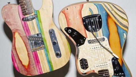 بازیافت اسکیت بورد به صورت گیتار!