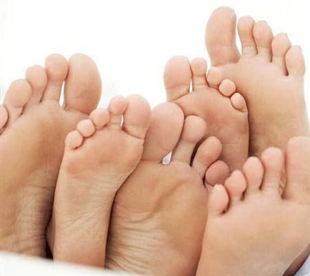بیماری ات از پای تو پیداست!