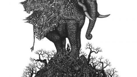 تجمع میلیون ها نقطه و خلق نقاشی های زیست محیطی