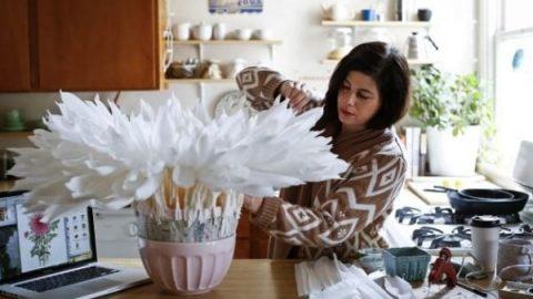 گل های کاغذی!