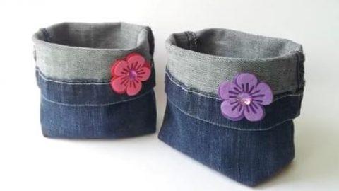 کاردستی با شلوار جین کیف بسازید