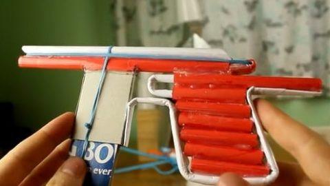 کاردستی ساخت تفنگ کاغذی