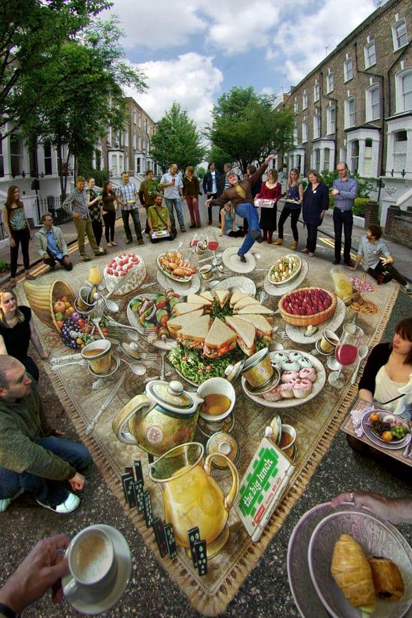 خیابان هایی که با نقاشی های 3 بعدی فرش شدند (ویدئو)