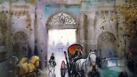 یادگار های تهران قدیم در آبرنگ های کورش اصلانی