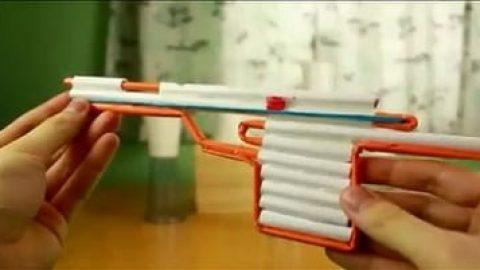 کاردستی تفنگ کاغذی