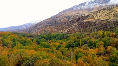 نمایی از پاییز رنگین روستای خانقاه