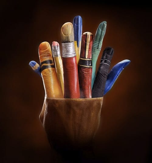 نقاشی با انگشتان دست3
