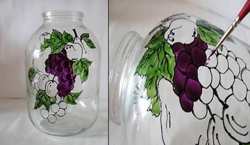 آموزش سبزه روی دامن عروسک کاردستی نقاشی روی بطری