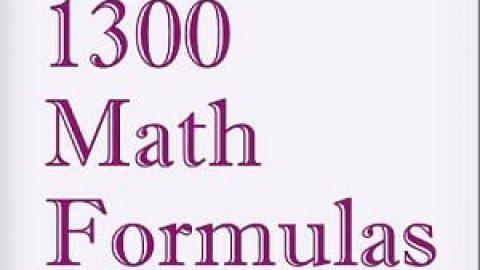 """کتاب """"۱۳۰۰ فرمول ریاضی"""""""