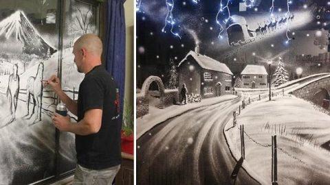 نقاشی هایی از جنس برف شادی