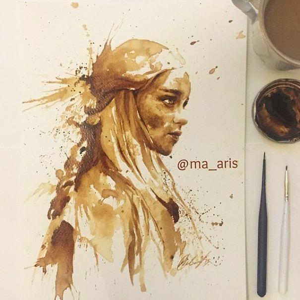 نقاشی با قهوه (1)