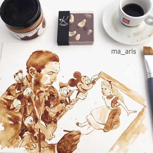 نقاشی با قهوه (13)