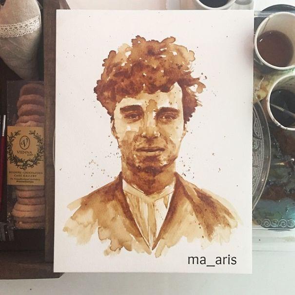 نقاشی با قهوه (14)