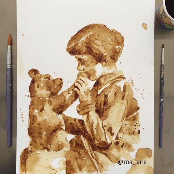 نقاشی با قهوه (15)