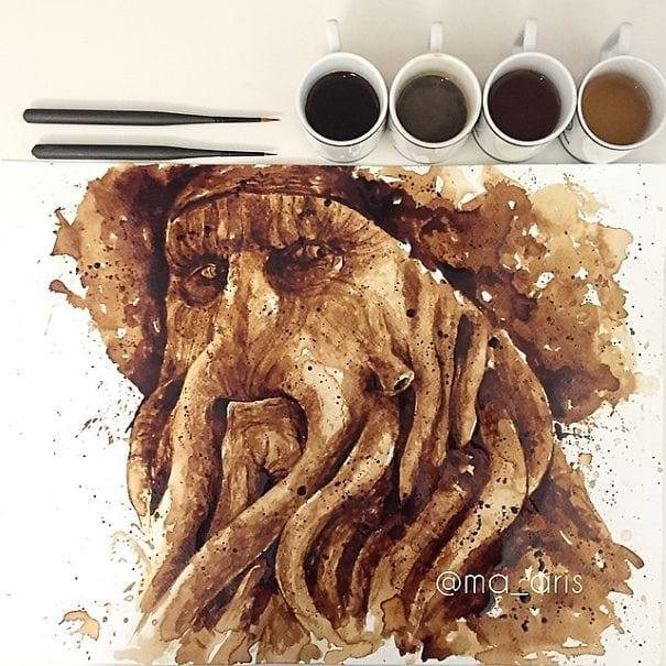 نقاشی با قهوه (3)