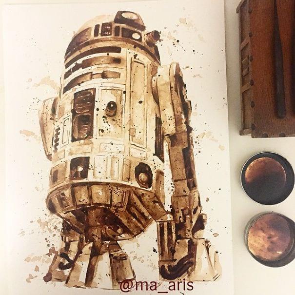 نقاشی با قهوه (4)