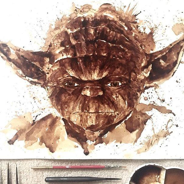 نقاشی با قهوه (5)