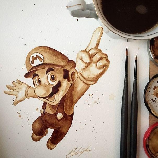 نقاشی با قهوه (6)