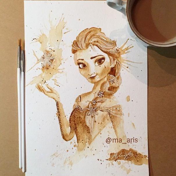 نقاشی با قهوه (7)