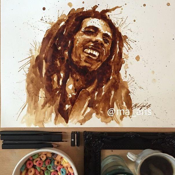 نقاشی با قهوه (8)