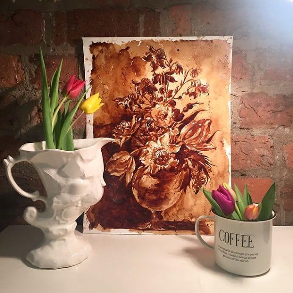 نقاشی با قهوه (9)