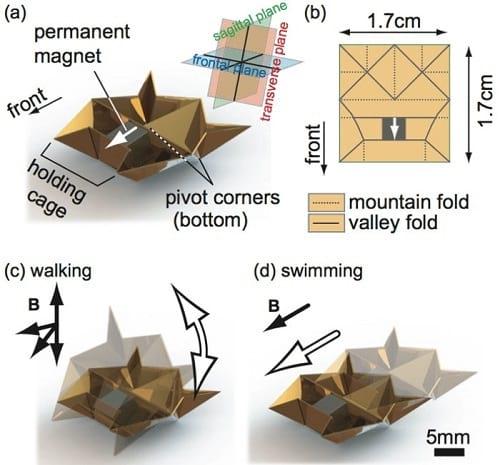 ربات مینیاتوری که به شیوه اوریگامی ساخته شده است!