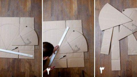 کاردستی هندوانه سه بعدی