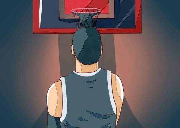 پرتاب صحیح توپ در سبد بسکتبال