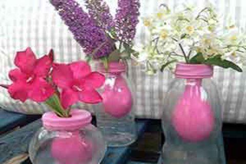 کاردستی گلدان همیشه بهاری